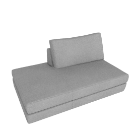 Reid Side Chaise Left, Ducale Wool - Light Grey