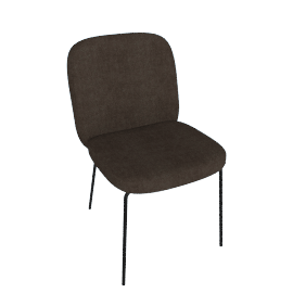 Safia Dining Chair, Otter Grey Velvet