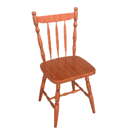 Drava Chair, Chestnut