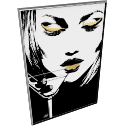 Glam Rock V by KelliEllis - 54''x78'', Silver