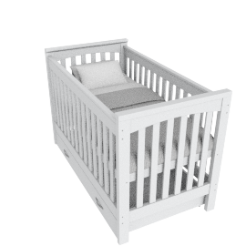 Little Sweetie Nursery Bed With Drawer, White