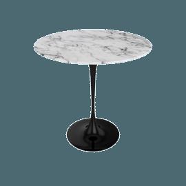 Saarinen Side Table - Coated Marble 1 - Blk.Arabescato