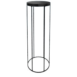 Marble Wire Large Table, Black