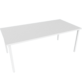"Everywhere Rectangular Table 36"" x 72"", White Leg White Finish"