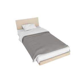 Nelson Thin Edge Twin Bed, Ash