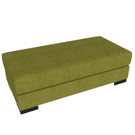 Signature Storage Ottoman, Dark lime