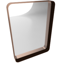 Alana Large Rectangular Wall Mirror, Copper