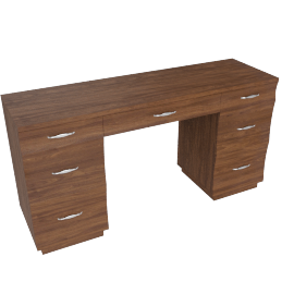Scoop Dressing Table-Walnut