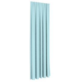 Solid Dyed Curtain 140X300Cms (Adjustable Length), Mint