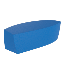 Frank Gehry Bench, Blue
