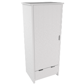 Pembroke Single Wardrobe, White