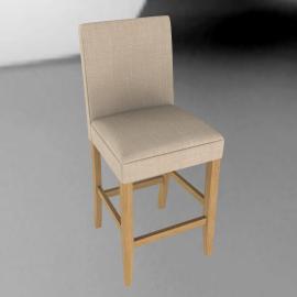 John Lewis Miso Upholstered Bar ChairNatural