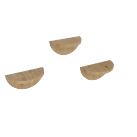 Half Moon Shelf Set Of 3Pcs, Natural