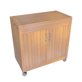 Hostess Trolley, HL6232LB, Teak