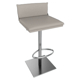 Bottega Adjustable-Height Stool, Ice Grey