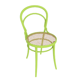 Era Chair with Cane - Green