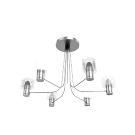 Cuba Ceiling Light, 6 Arm