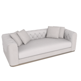 Mystique 3 Seater Cream