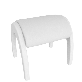 Wave Dressing Stool, White