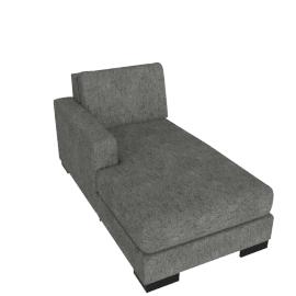 Signature Chaise Left, Silver Gray