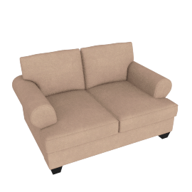 Brooke 2 Seater Light Brown