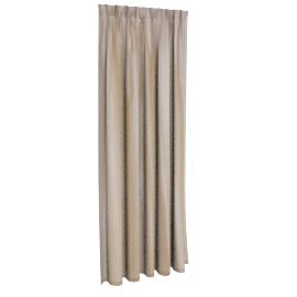 Silk Look Pleated Curtain Pair - 137X240-Cream