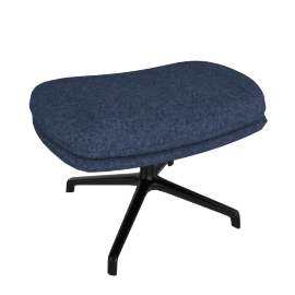 Striad Ottoman, Noble Fabric Heathered Twilight with Black Base