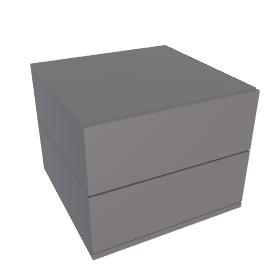 Brix - 2 High - Narrow Bedside - Charcoal