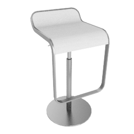 Lem Bar Stool, White
