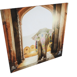 Giant Visitor Canvas Painting 80X2.5X80 Cm-Multicolor