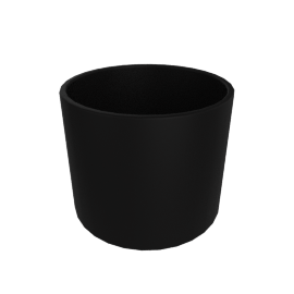 Monstruosus Planter, Model 1 Small, Black