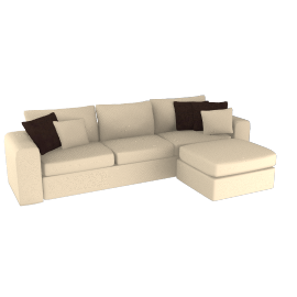 Valencia Chaise and Sofa Unit, Mink