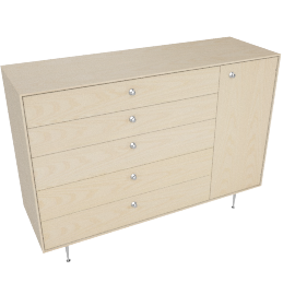 Nelson Thin Edge Chest Cabinet, Ash