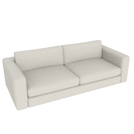 "Reid 86"" Sofa in leather, powder"
