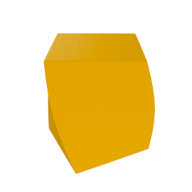 Frank Gehry Left Twist Cube - Yellow