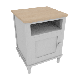 Lomond Pot Cupboard bedside, Grey
