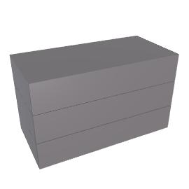 Brix - 3 High - Wide - Charcoal