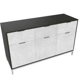 Blend 3-Drawer Buffet, Grey