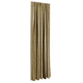 Chinelle Texture Curtain Pair - 135x300 cms, Green
