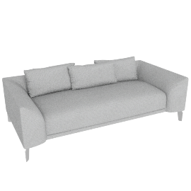 Canvas Sofa, twill grey
