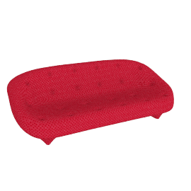 Ploum Large High Back Sofa, Mood Rouge