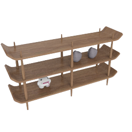 Bentwood Shelves, American Walnut, Large