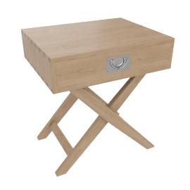 Lomond Campaign Bedside Table,Ash
