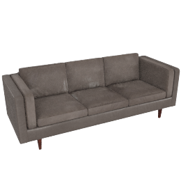 Chill 4 Seater Sofa, Suede grey
