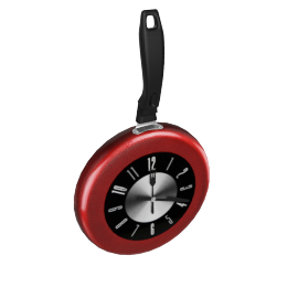 Vettora Frying Pan Wall Clock