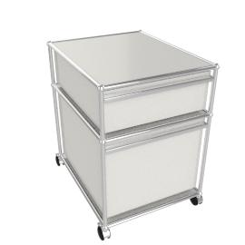 USM Haller File Pedestal, White