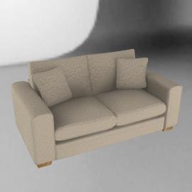 Umbria Medium Sofa, Stone