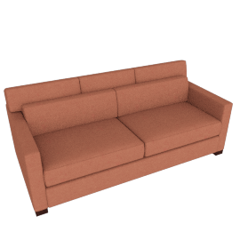 Vesper Queen Sleeper Sofa, Boucle - Coral