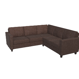 Portia Corner Unit, Charcoal / Dark Leg