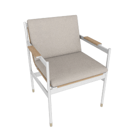 Sommer Armchair, White / Natural